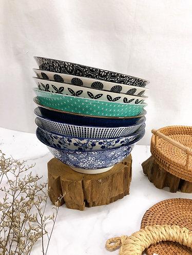 Double pattern bowls (8designs)