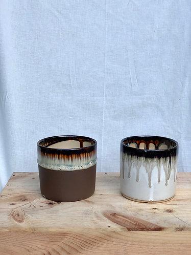 Outdoor dripping glazed pot  (3 sizes x 2 designs)