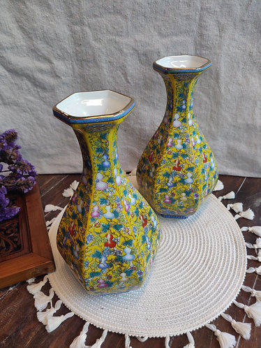 Yellow Floral Hulu Print Vase