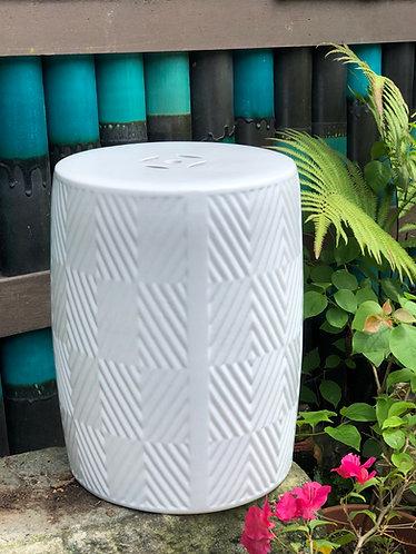 Stripes x white stool