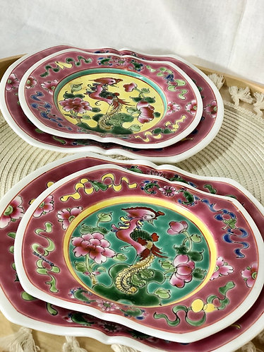 Peranakan plate (2 colours - 2 sizes)