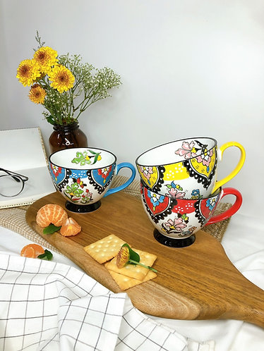 Floral x hand painted Mug (3 colours)