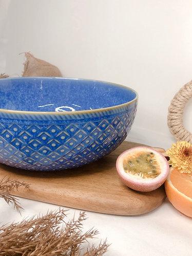 Blue ash x carved big bowl