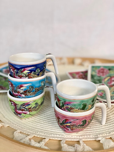 Peranakan cup with saucer
