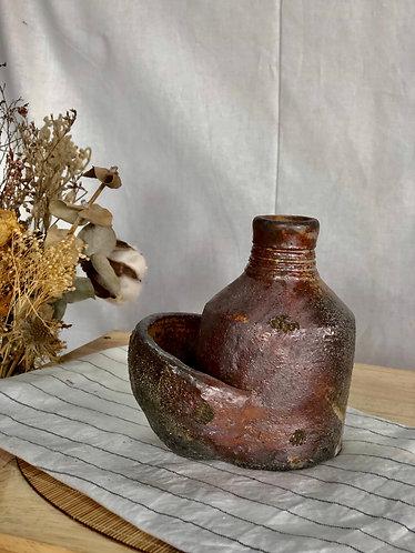 Dragon kiln fired kangaroo bottle
