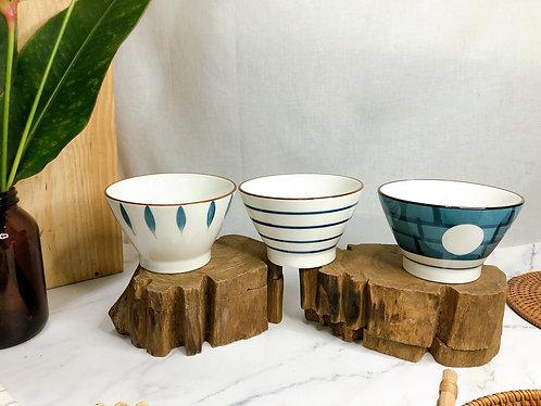 V Shape rice bowl (3 designs)