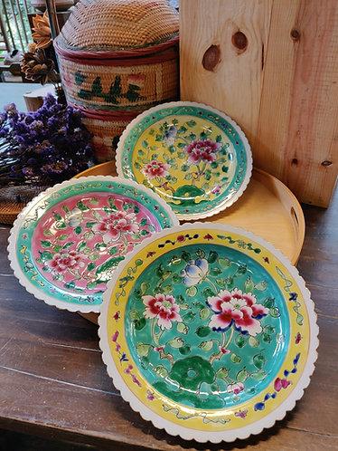 Peranakan Plate - Full Peony Series (3 Sizes)