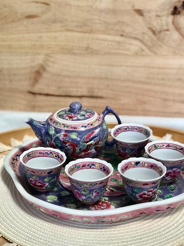 Peranakan Teapot Set B