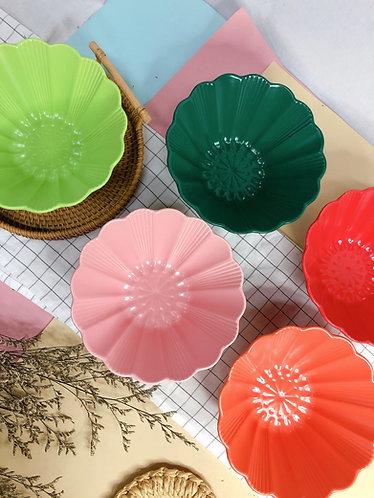 Floral x salad bowl ( 5 colours)