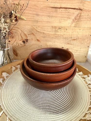 Wooden round bowl (3 sizes)