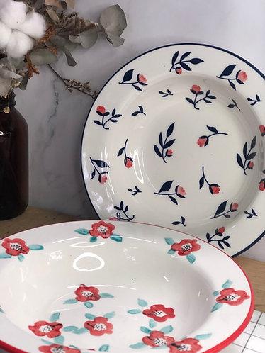 Colour my life | 22.5cm floral soup bowl (2 colours)