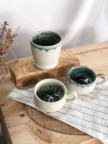 The green ash family cups / 3 sizes