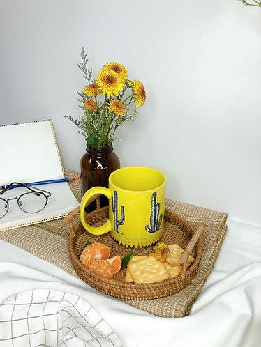 Yellow x cactus big mug