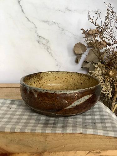 Dragon Kiln Fired x shino bowl