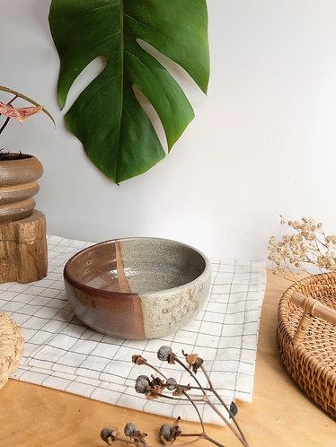 Dragon kiln fired x 1/2 glazed bowl