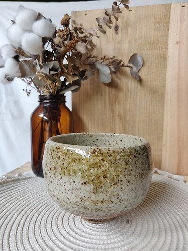 Olive/Oatmeal Speckled Bowl