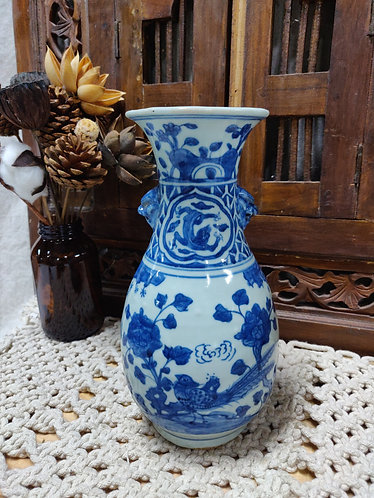 Blue White Scenery Vase