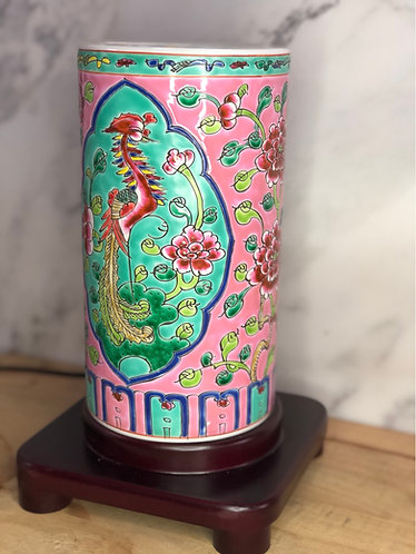 Peranakan cyclinder lamp