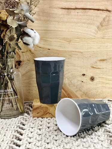 Grey tall cups