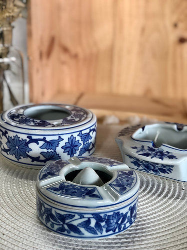 Blue & white ashtray (3 designs)