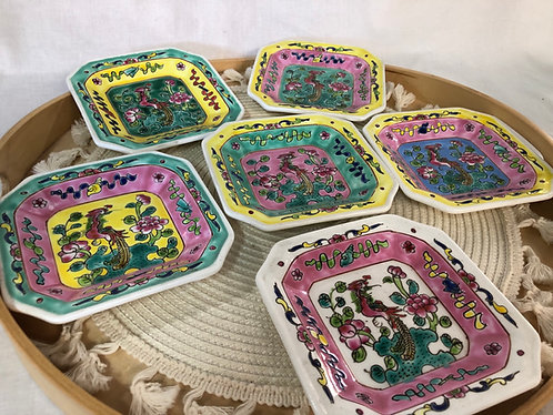 Peranakan side plate (6 colours)