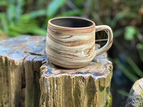 Matt 3 tones x marbled cup with handle