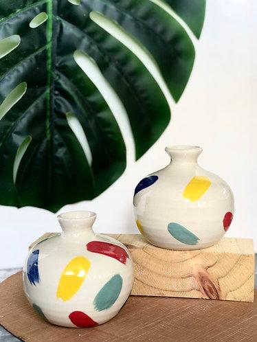 Handmade sprinkle mini vase