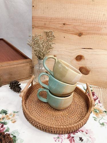 170ml-179ml | matt vintage cup with bean ( 2 designs)