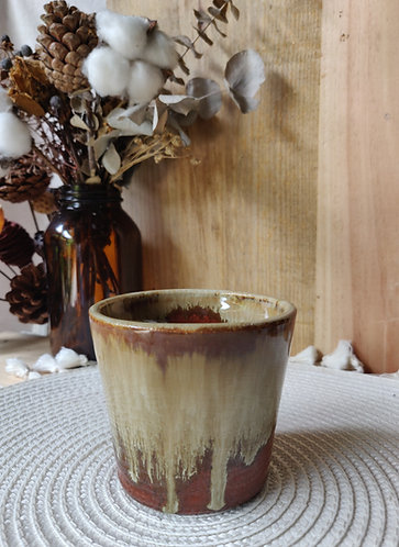Brown Glossy Drip Cup
