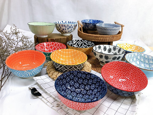 Double pattern rice bowls (13 designs)