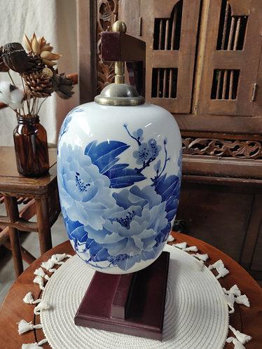 Overhanging C Frame Floral Lamp #2