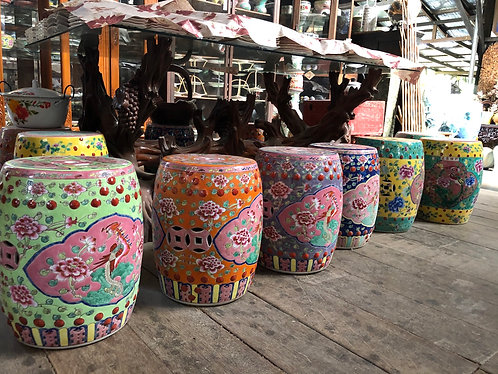 Peranakan ceramics stool (4 colours)