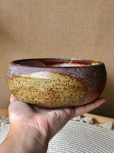 Dragon kiln fires shallow bowl