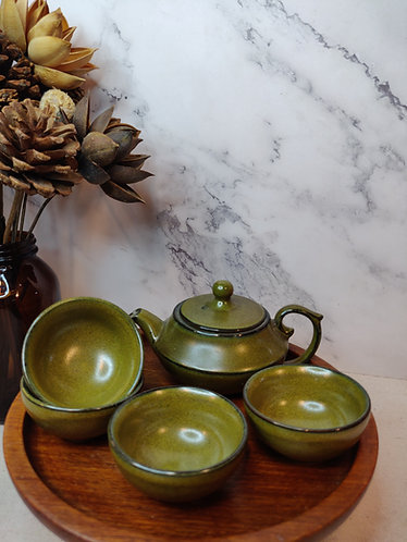 Olive Short Teapot Set