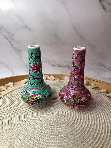 Peranakan slim top vase (2 colour)