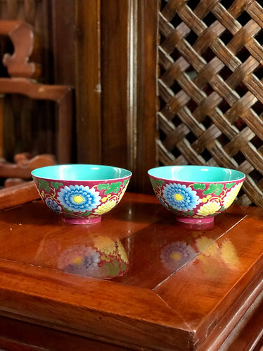 Handpainted coloured bowl (Limited Ed)