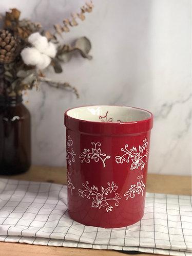 Colour my life | red + white carving utensils holder