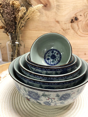 Peony round bowl (6 sizes)