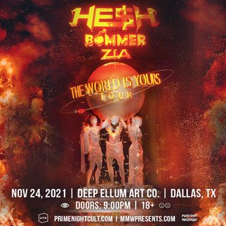 Thanksgiving Eve with He$h, Bommer, and Zia at Deep Ellum Art Co on 11/24!