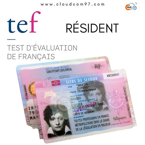 TEF CARTE DE RÉSIDENT EN FRANCE