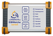EIBWeiche serial in compact case with visualization, OPC and EIB.VB. EIBWeiche serial, EIB, KNX, EIBWeiche USB, Buscoupler, ETS, OPC, EIB.VB, compact case, visualization FIAVis, Building automation EIB/KNX, EIBDoktor, b+b, RS232, EIB/KNX-telegrams, fast telegram transmission