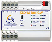 KNX M-Bus Gateway, Gateway between M-Bus and KNX for energy recording by M-Bus energy meters. 25 M-Bus devices can be connected to each KNX M-Bus Gateway. Building automation EIB/KNX, KNX, b+b, automation, EIBDoktor, USB, EIB/KNX 2-wire connection