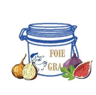 Assortiment Foie Gras (180g) /Confit (Figues ou Oignons)