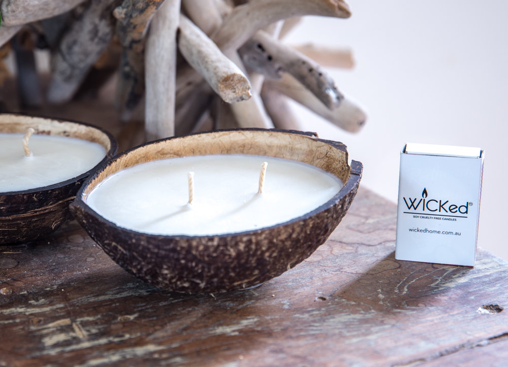 COCONUT SHELL SOY CANDLE