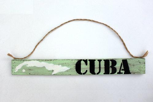 """Deko-Schild """"CUBA"""""""