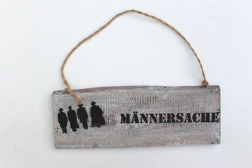"""Deko-Schild """"MÄNNERSACHE"""""""