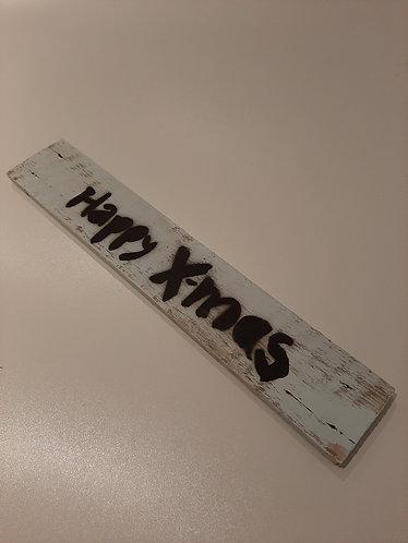"""X-MAS Deko-Schild """"HAPPY X-MAS"""""""