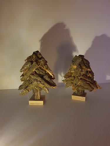 nature tree bark 2er Set oak