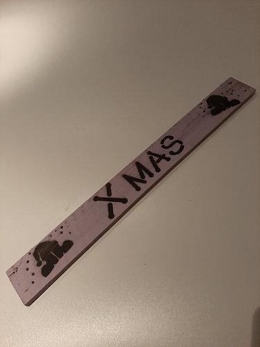 """X-MAS Deko-Schild """"X-Mas"""""""