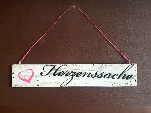 """Deko-Schild """"HERZENSSACHE"""""""